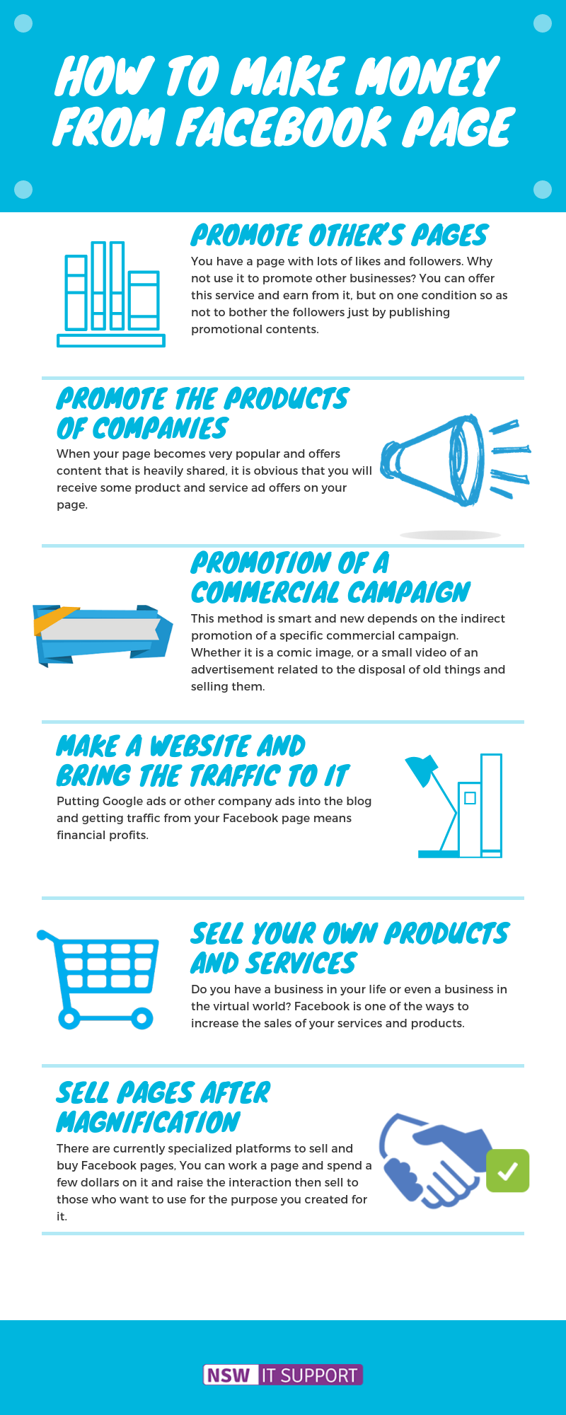 make money from facebook infographic